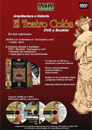 dvd  el teatro colón  caja 5 sentidos con booklet, aanba