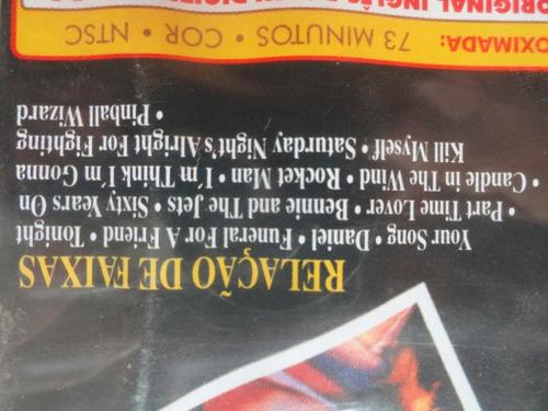 dvd elton john - to russia with - original novo e lacrado