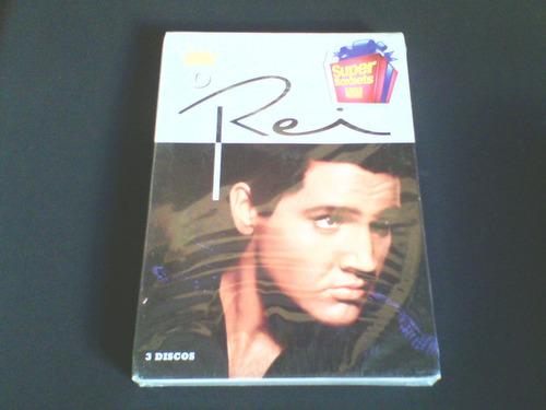 dvd elvis  o rei  box com 3 dvds  (originais)