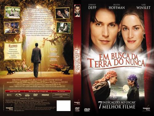 dvd em busca da terra do nunca - infantil - 2005