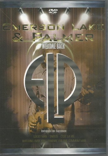 dvd - emerson lake & palmer - welcome back - lacrado