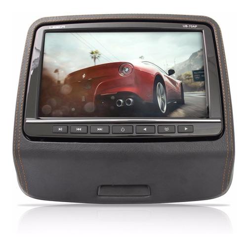 dvd encosto de cabeça preto monitor com game uber