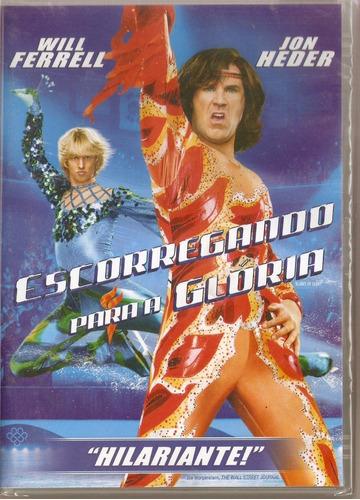 dvd escorregando para a glória - novo***
