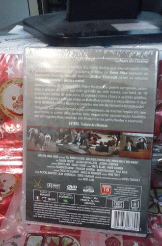 dvd eu, pierre riviere, que degolei minha mãe, minha irmã e