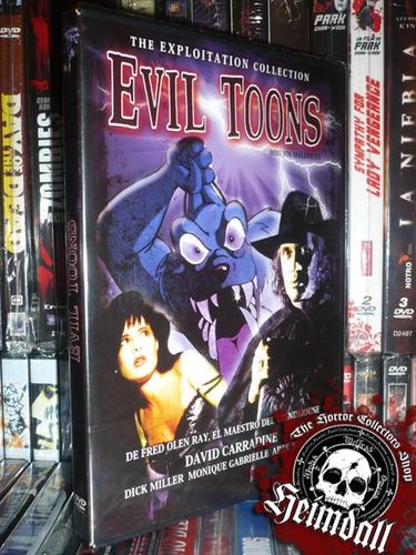 dvd evil toons dibujos melficos carradine horror terror gore