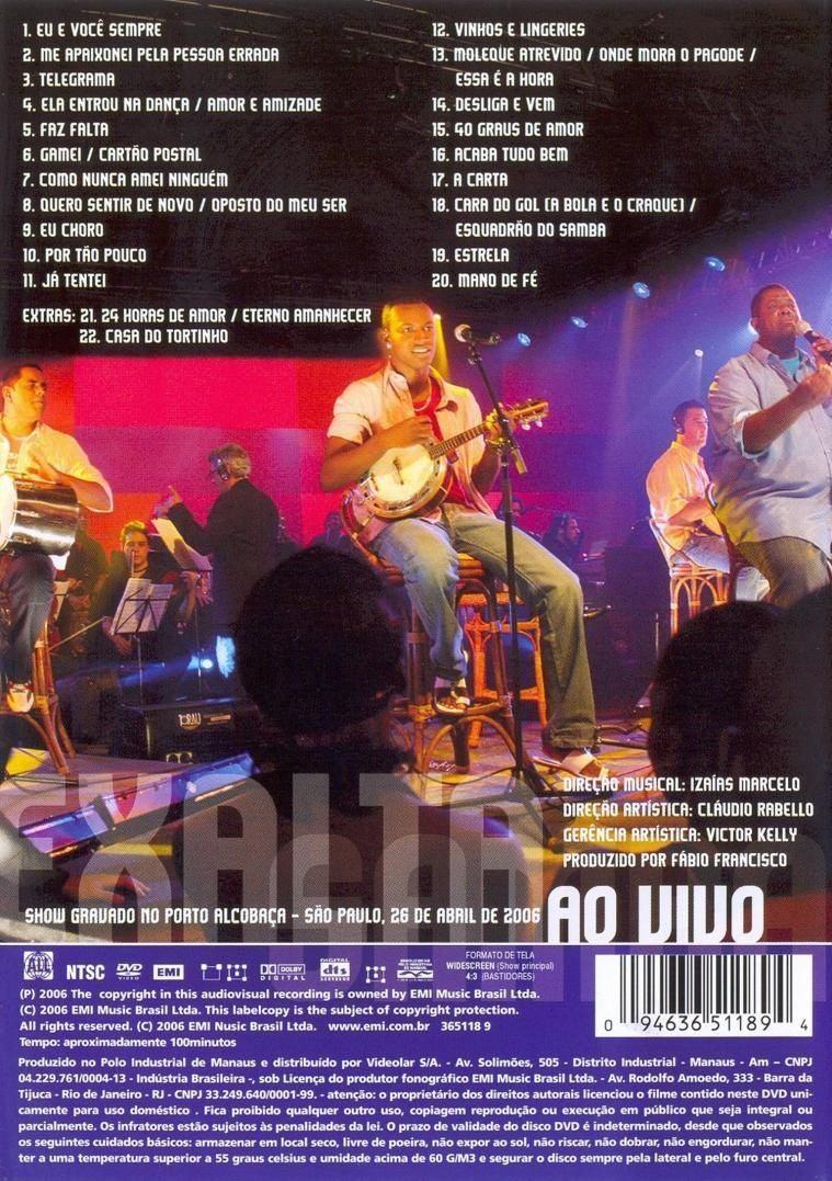 dvd exaltasamba todos os sambas ao vivo