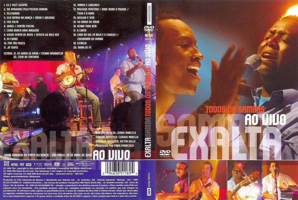 dvd todos os sambas exalta