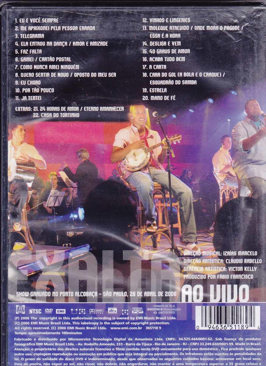dvd todos os sambas exaltasamba