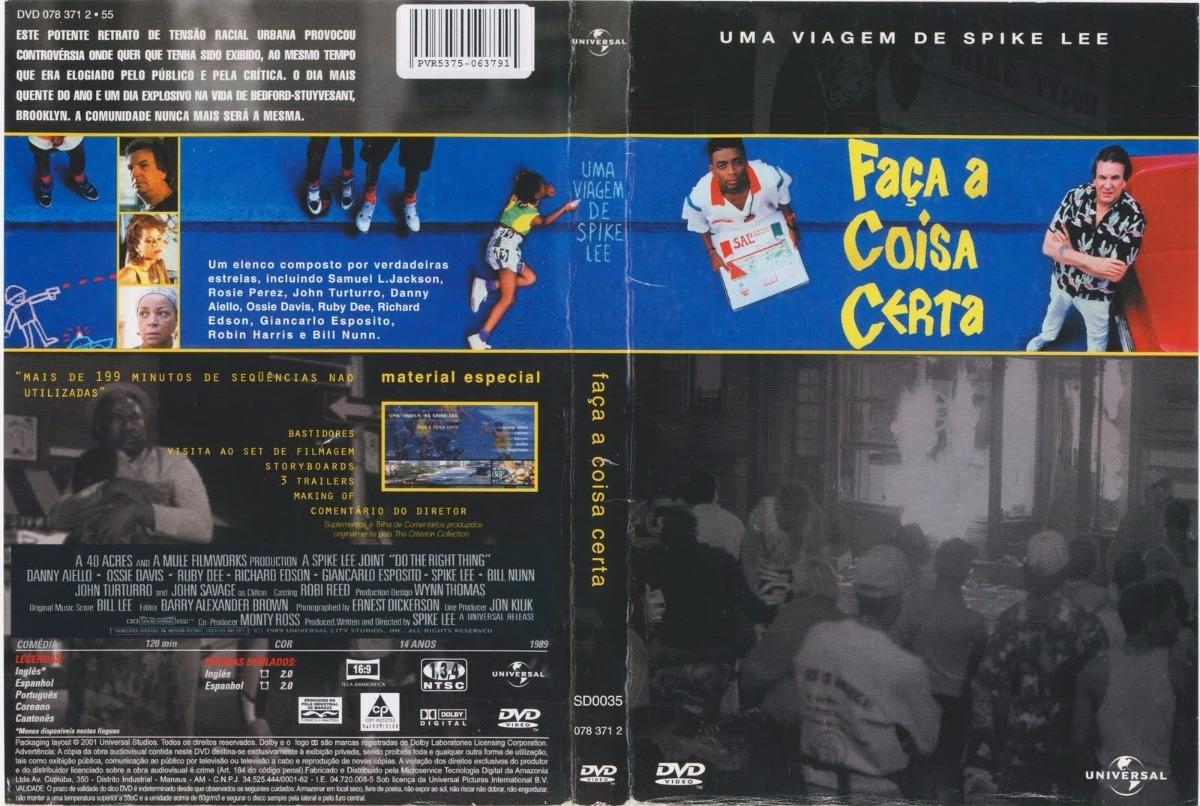 Dvd Faça A Coisa Certa (1989) - Dublagem Clássica Da Tv - R$ 34,48 ...