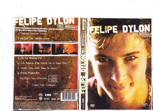 dvd felipe dylon, nas internas - original