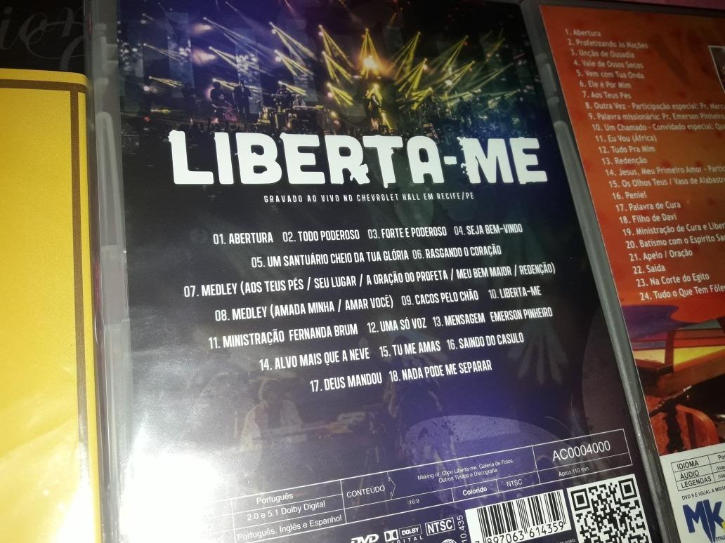 Dvd Fernanda Brum Mk Clipes+liberta Me+profetizando Nações