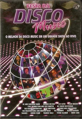 dvd festa da disco music - o melhor da disco music - novo***