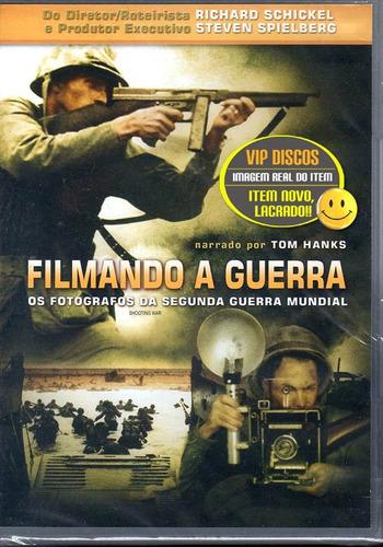 dvd filmando a guerra os fotógrafos da segunda guerra - raro