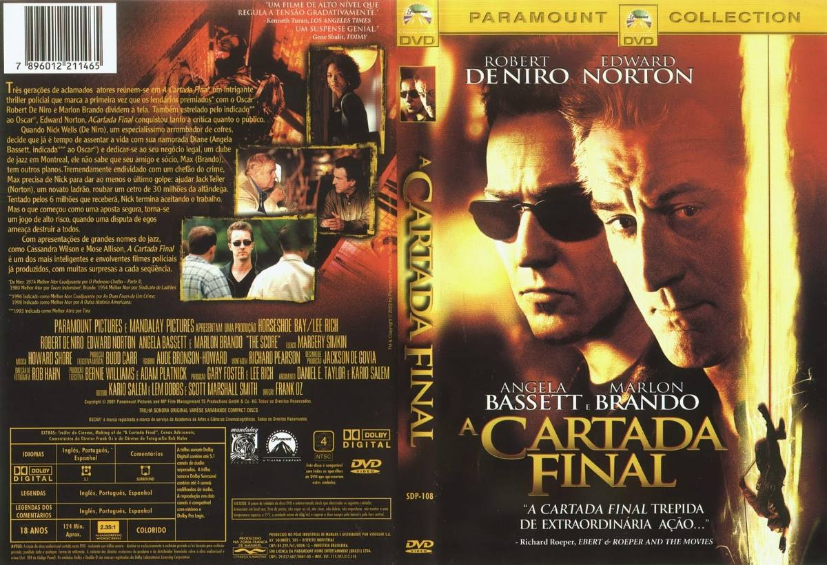 Dvd Filme A Cartada Final Com Robert De Niro E Edward Norton - R$ 9,90 em  Mercado Livre