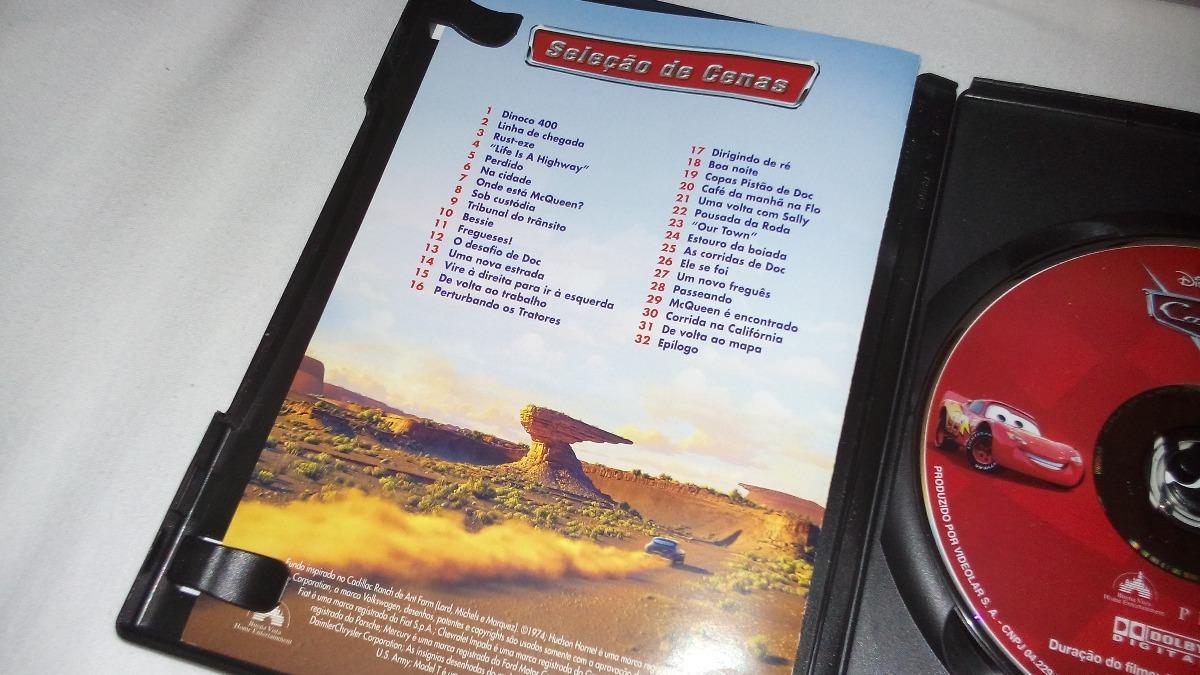 Dvd Filme Carros Cars - Completo Encarte Disney Pixar 2006