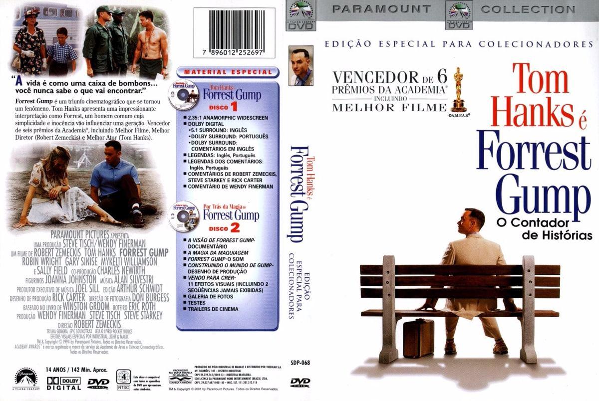 Dvd Filme Forrest Gump O Contador De História Original R 12