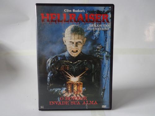 dvd filme hellraiser renascido do inferno terror raro zerado