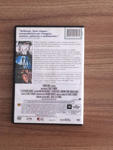dvd filme laranja mecânica