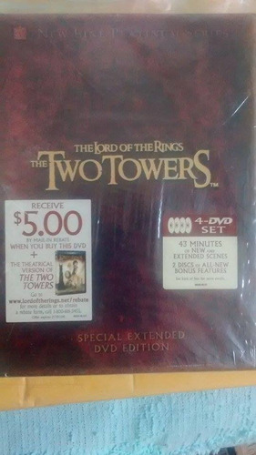 dvd filme lord of the rings the two towers importado