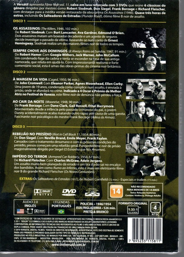 dvd filme noir 11 sem cards - versatil - bonellihq l19