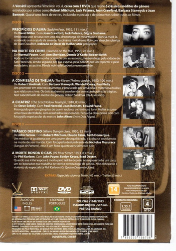 dvd filme noir 8  sem cards - versatil - bonellihq  j19