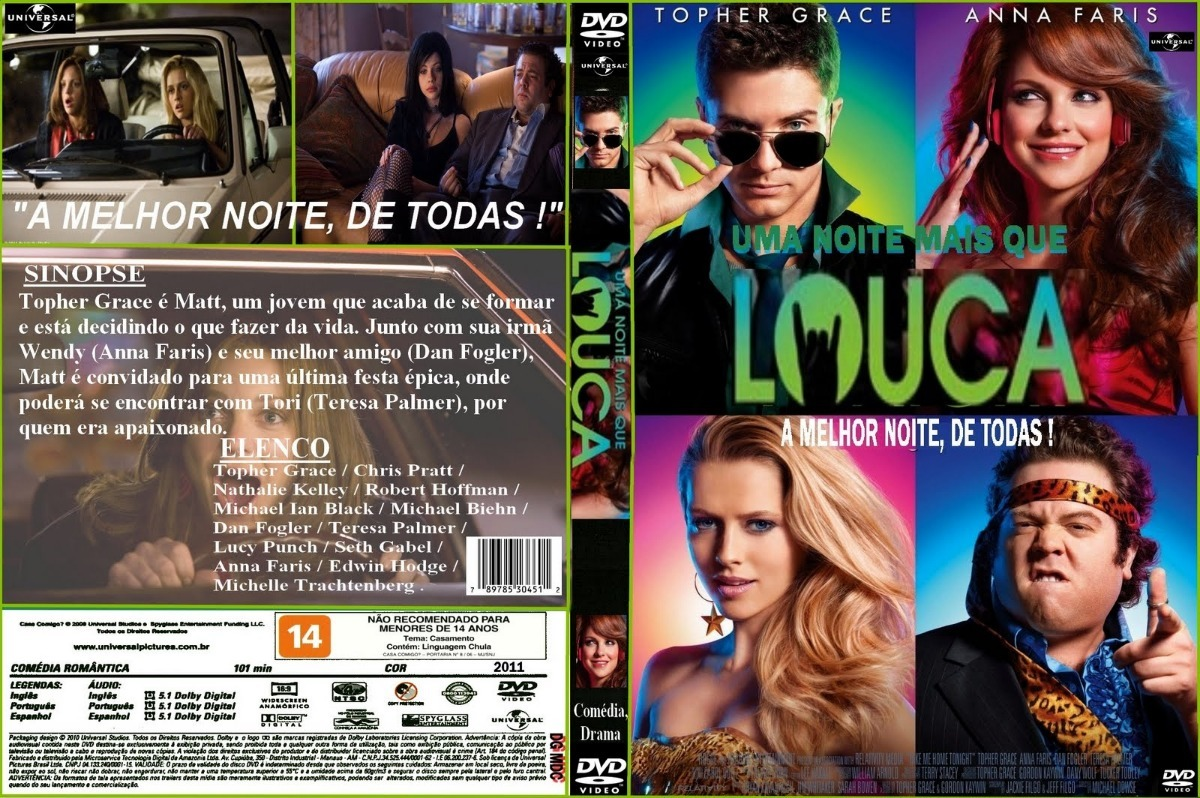 Dvd Filme Uma Noite Mais Que Louca - R$ 15,00 em Mercado Livre