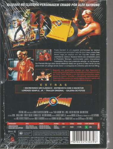 dvd flash gordon o filme - vinyx - bonellihq i19