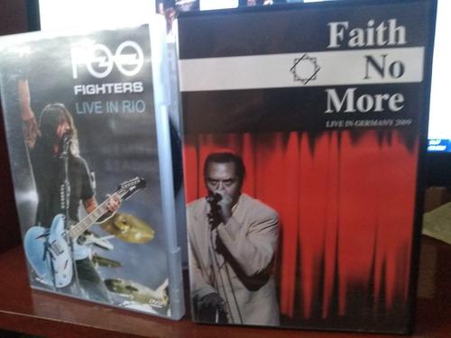 dvd foo fighters - live in rio / faith no more live 2009
