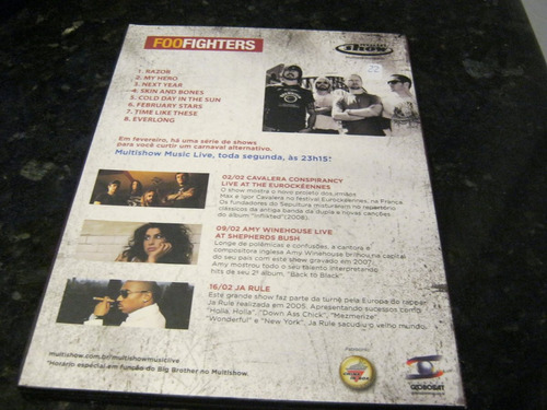dvd foo fighters multishow music live
