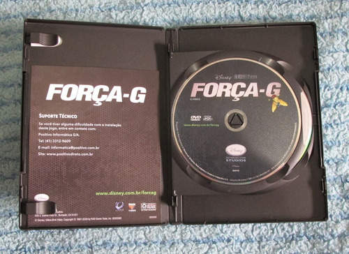 dvd força g mais jogo em dvd-rom para pc - original