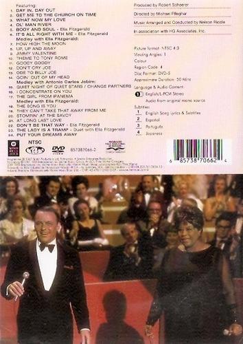 dvd frank sinatra - a man and his music + ella + jobim- novo