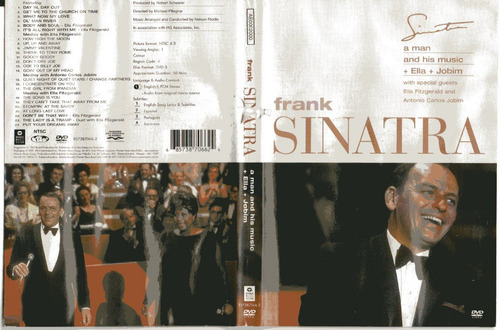 dvd frank sinatra - a man and his music + ella + jobim-usado