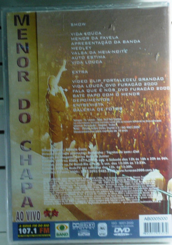 dvd furacão 2000 apresenta menor do chapa funk lacrado pop