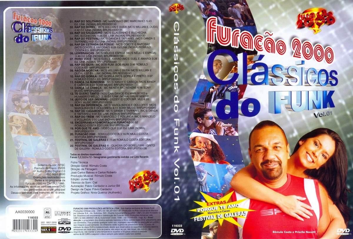 dvd furacao 2000 classicos do funk