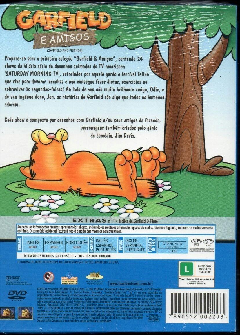 Dvd Garfield E Amigos Box Com 3 Discos 1 Camisa R 150 00 Em