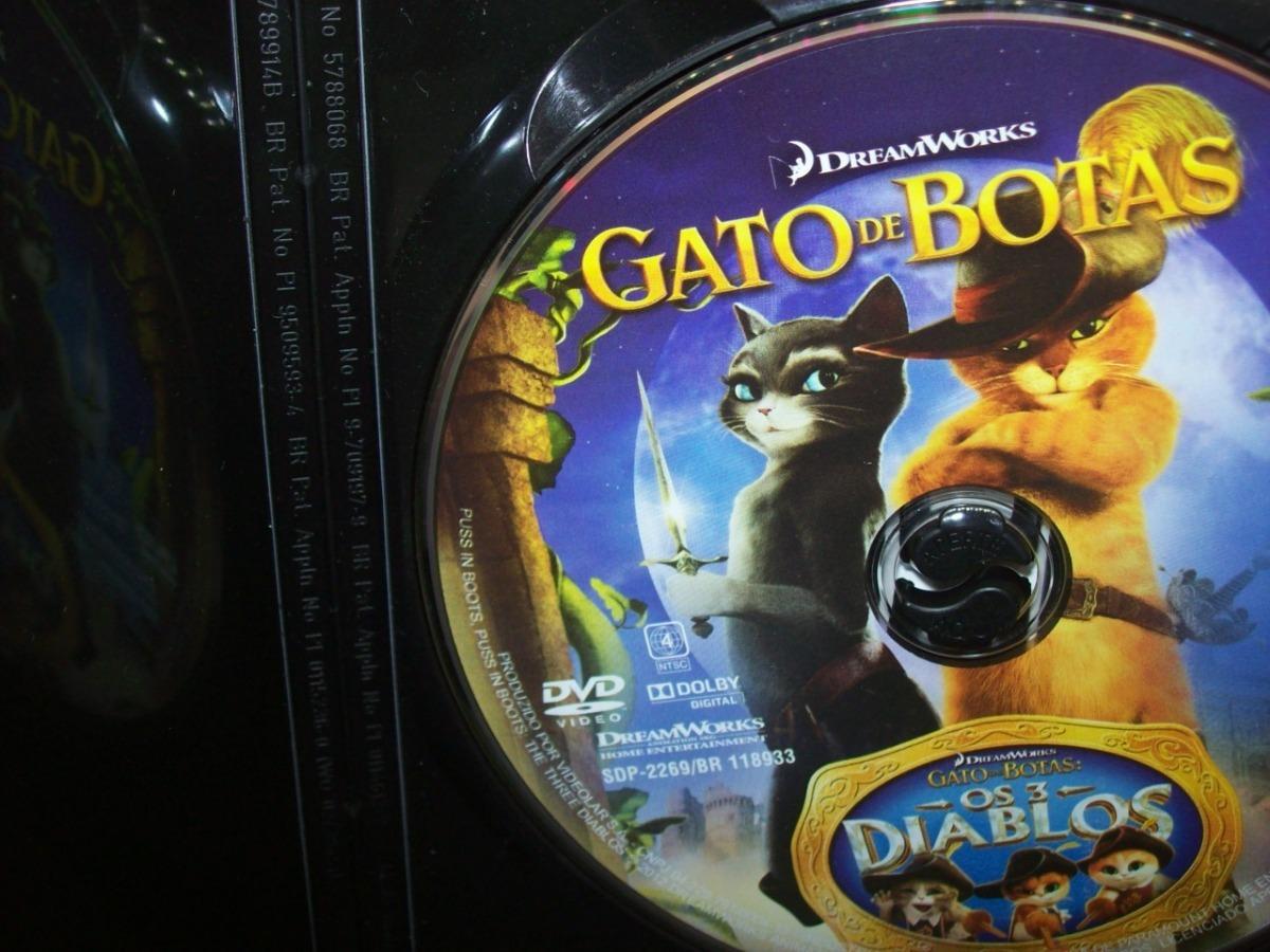 Dvd Gato De Botas Desenho Nacional Usado R 16 80 Em