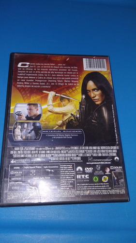 dvd gi joe el origen de cobra