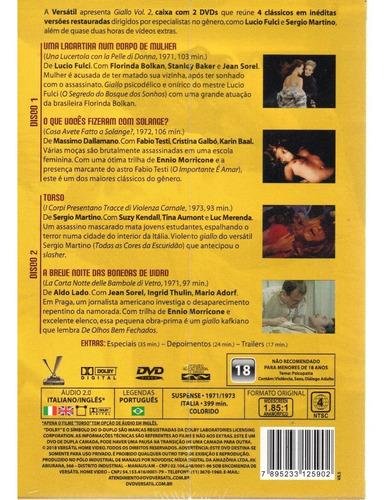 dvd giallo volume 2 sem cards - versatil - bonellihq l19