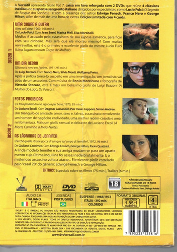 dvd giallo volume 7 com cards - versatil - bonellihq e19