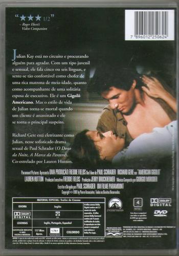 dvd gigolô americano - richard gere - novo***