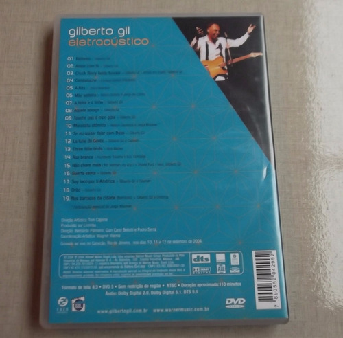 dvd gilberto gil eletracústico original