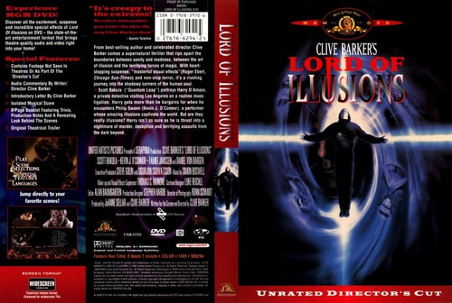 dvd gore el amo del terror lord of illusions clive barker