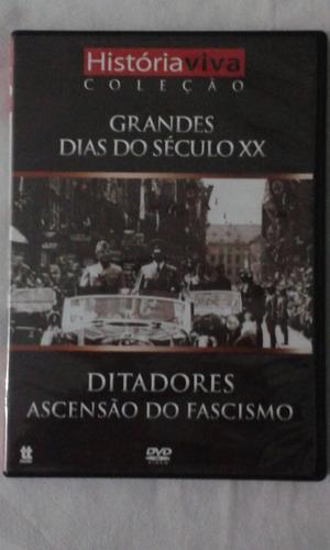 dvd  grandes dias do seculo xx,ditadores ascensao do fascism