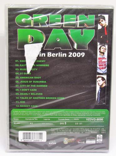 dvd green day live in berlin 2009 novo lacrado