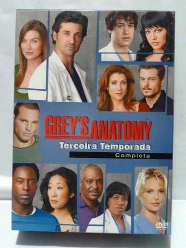dvd greys anatomy - 3a temporada