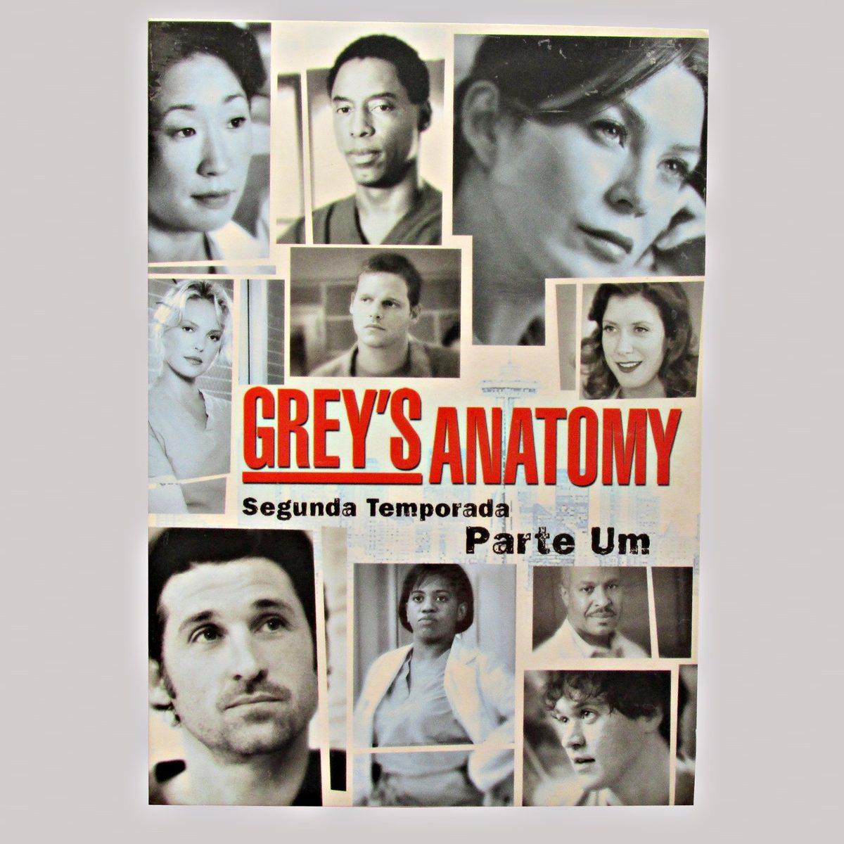Dvd Greys Anatomy Segunda Temporada Parte 1 4 Discos R 4000