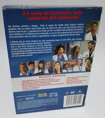 dvd grey´s anatomy: temporada 3