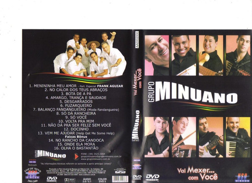 dvd grupo minuano - vai mexer com você - original