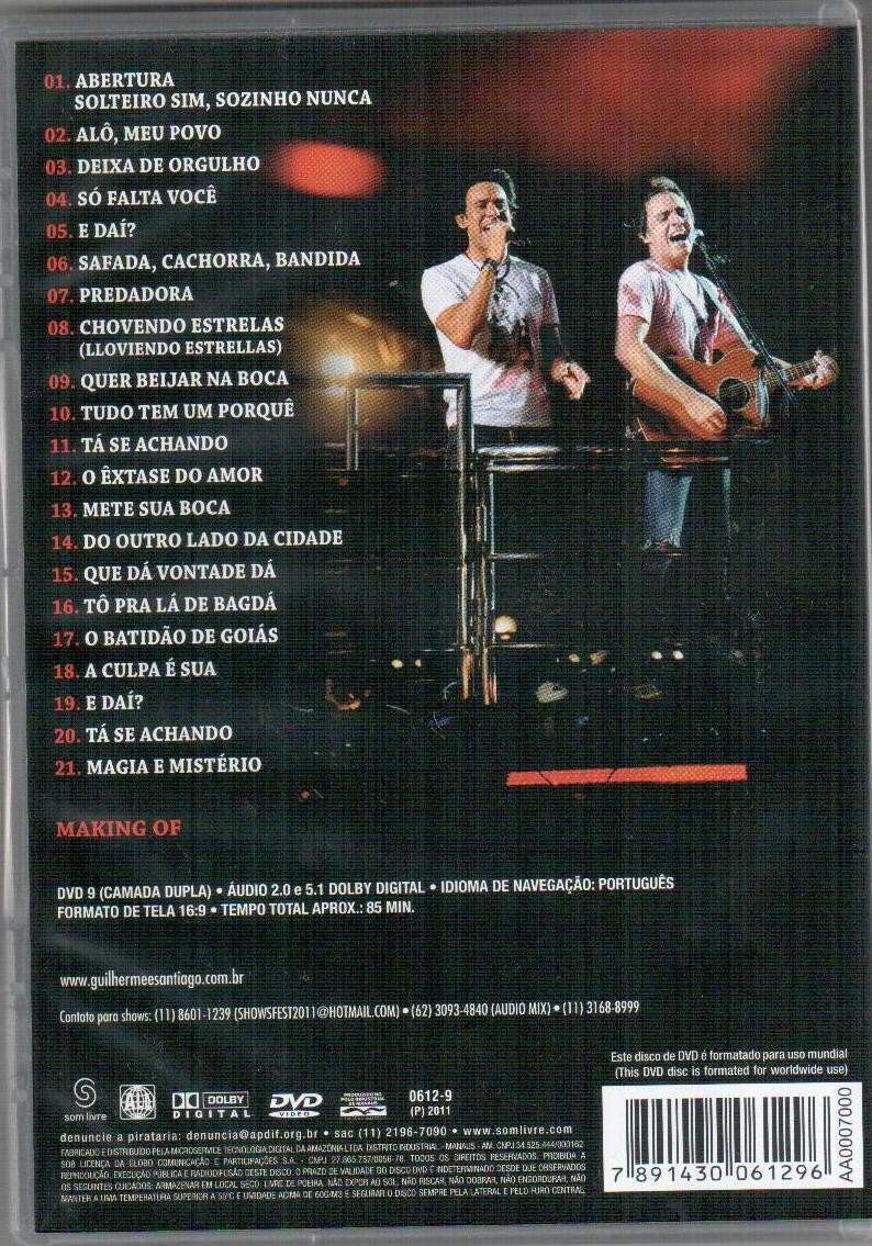 dvd guilherme e santiago eletrico 2011