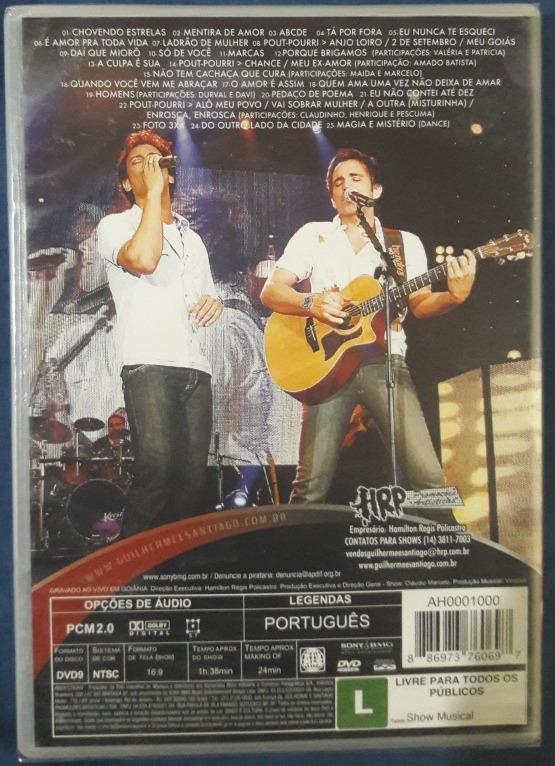 dvd guilherme e santiago ao vivo em goiania 2008